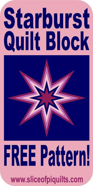 Starburst free quilt pattern using raw-edge applique