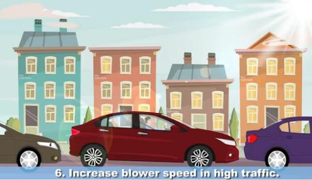 menaikkan kecepatan blower saat kondisi macet