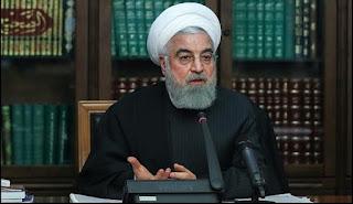 """روحاني يصف انتشار الخوف بسبب كورونا """"بالمؤامرة الخارجية"""""""