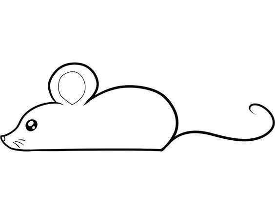 Hình tô màu con chuột đơn giản