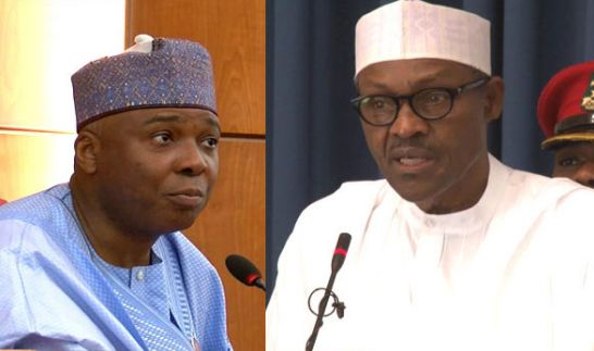 PMB's female aide blasts Saraki for saying, we are watching how Buhari will treat SGF
