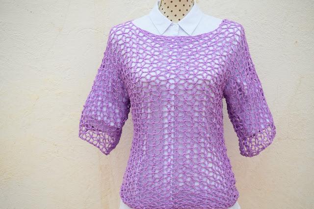6 - Crochet Imagen Blusa playera a crochet y ganchillo por Majovel crochet