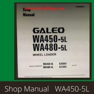 Shop manual wa450-5L wa480-5L wheel loader komatsu