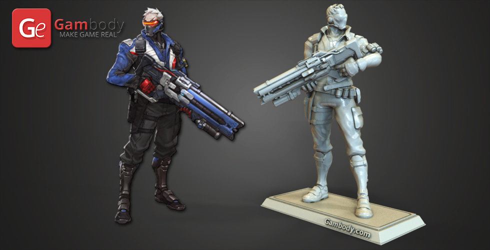 Overwatch - Soldier 76 3D Model Stl Files  Static Figure -8110