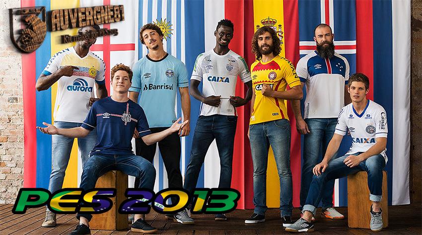 PES 2013 Brasileirao kits pack 2018 by Auvergne81