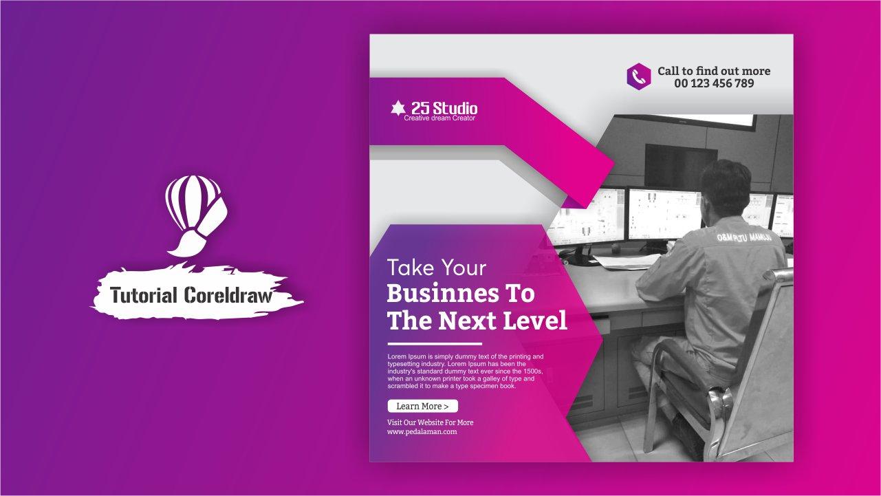 Membuat Flyer design Promosi Jasa di CorelDraw