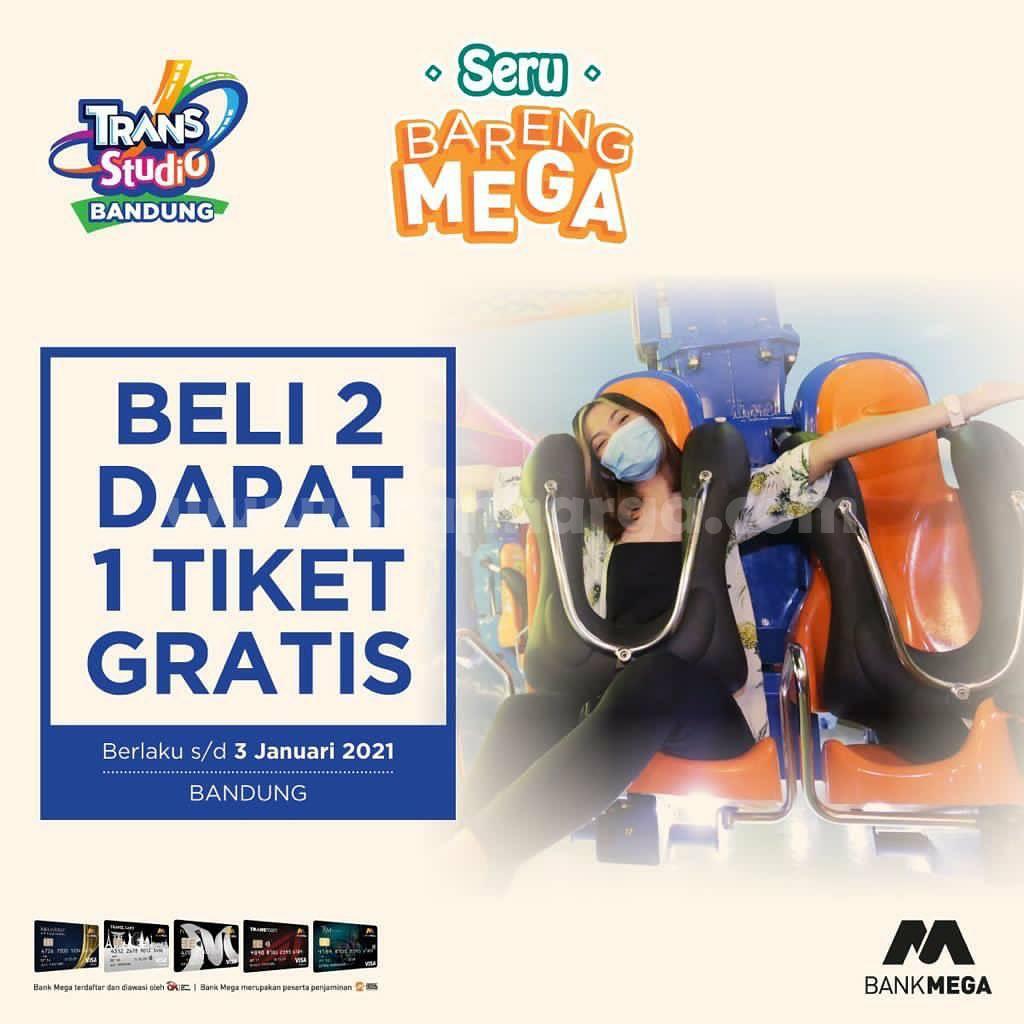 Trans Studio Bandung Promo Beli 2 Gratis 1 Spesial dengan Kartu Kredit Bank Mega