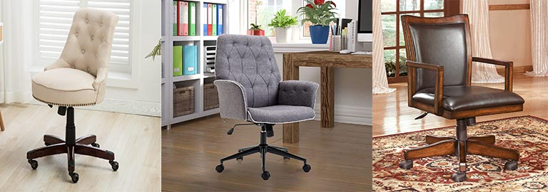 Farmhouse Office Chairs & Rustic Office Chairs