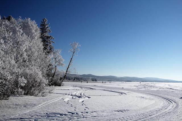 Vuokatti talvi Nuasjärvi Jäätiönlahti Aurinkolatu