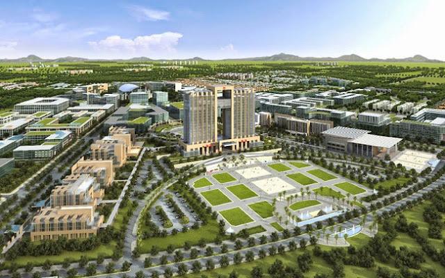 Phối cảnh Khu công nghiệp - Đô thị - Dịch vụ HD 450ha tại Phường Hắc Dịch Phú Mỹ