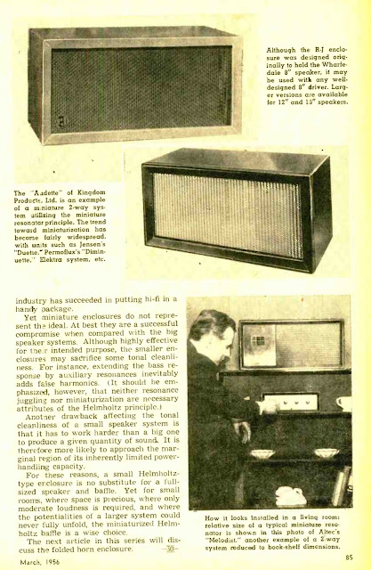 RESONATORS LARGE AND SMALL 1956
