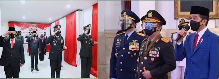 Ketua DPRD dan Bupati Lamsel Ikuti Upacara HUT Bhayangkara