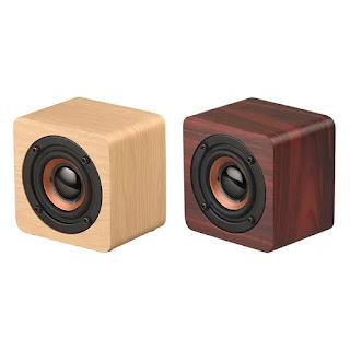 mini speaker de madeira