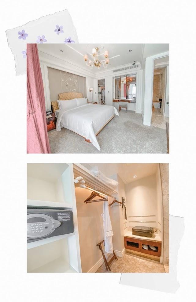 st regis staycation lady astor bedroom