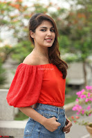 Rhea Chakraborty in Red Crop Top and Denim Shorts Spicy Pics ~  Exclusive 140.JPG