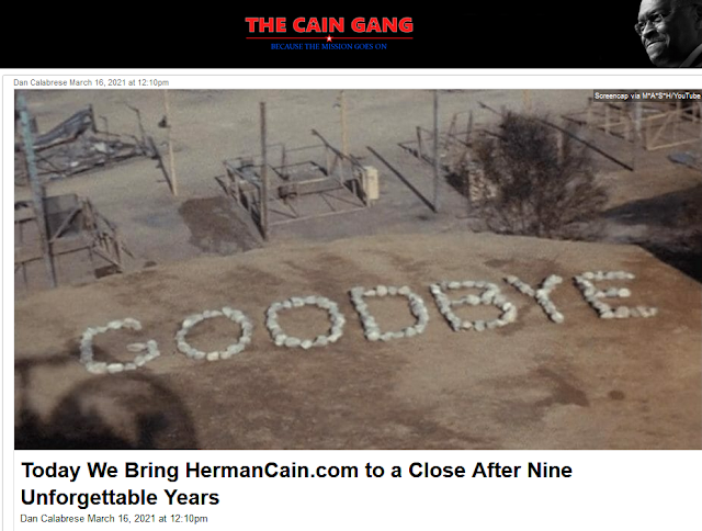 The Cain Gang close Dan Calabrese last article Herman Cain CainTV