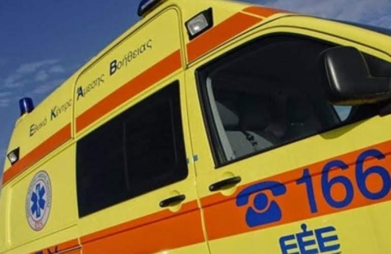 Τροχαίο ατύχημα με δύο τραυματίες στην Αμυγδαλή Αγιάς