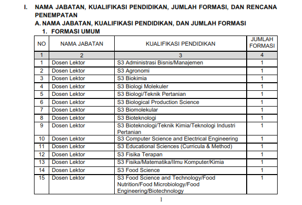 Lowongan Kerja CPNS Kementerian Riset, Teknologi, dan Pendidikan