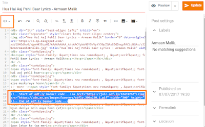 Insert Ads Within Your Post Content in Blogger 3