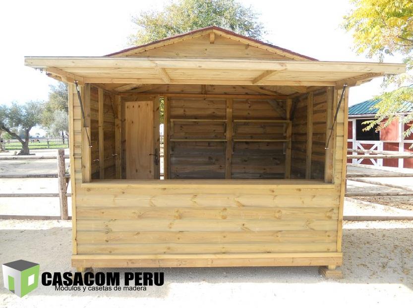 Casacom fabricantes de kioscos en lima for Kioscos prefabricados de madera