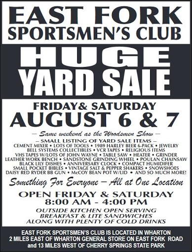 8-6/7 East Fork Yard Sale