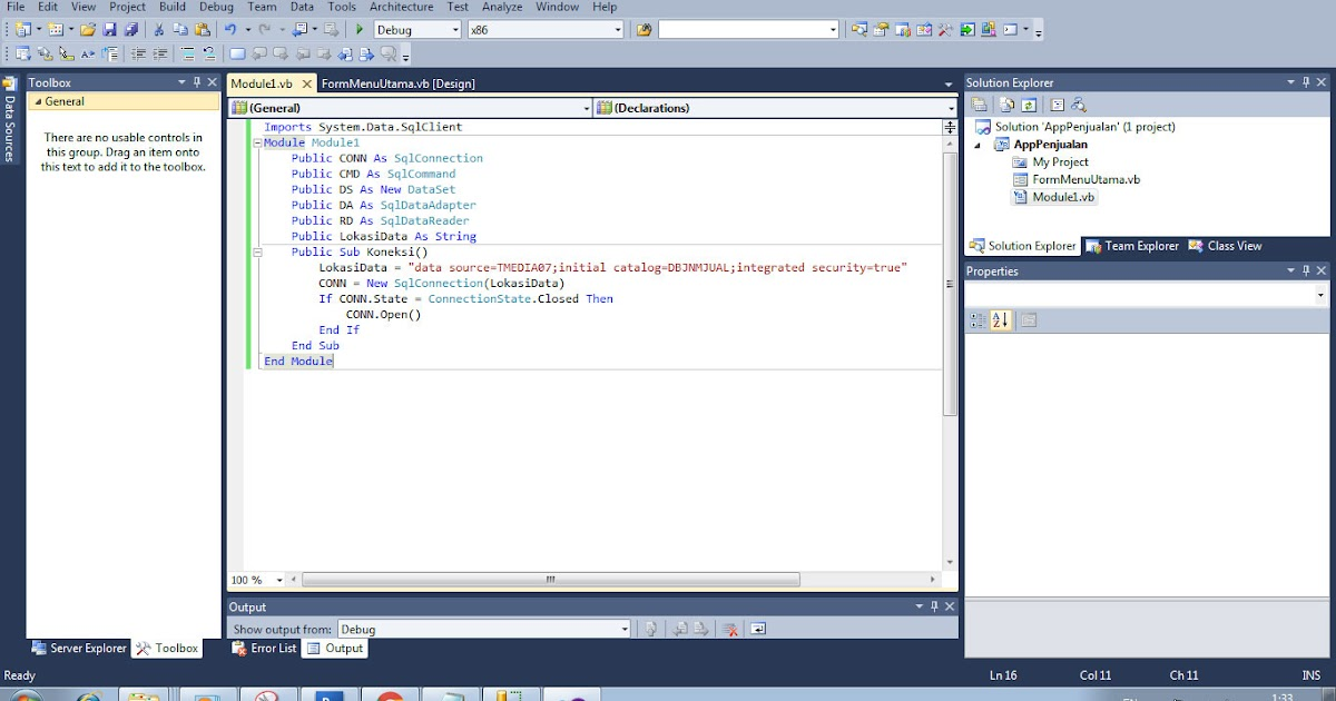 source code aplikasi: VB .Net - Membuat Form Login