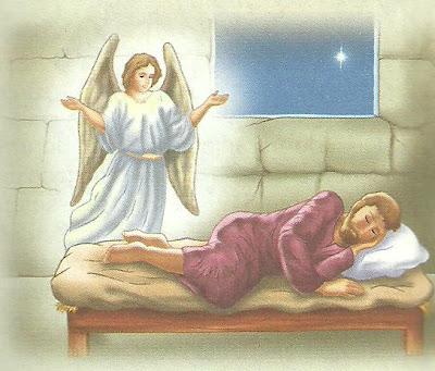 Resultado de imagem para o anjo apareceu a josé enquanto ele dormia
