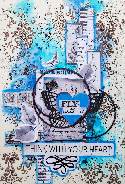 "Art journal ""Fly with me"""