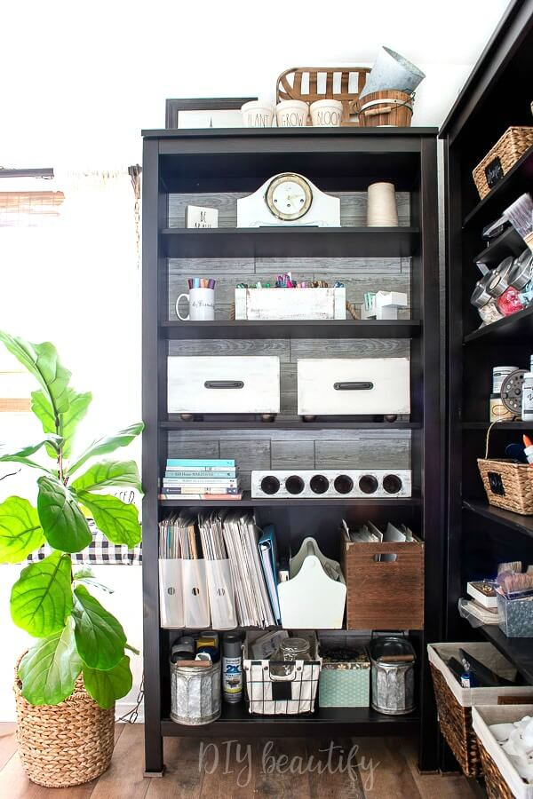 craft room storage bookshelf