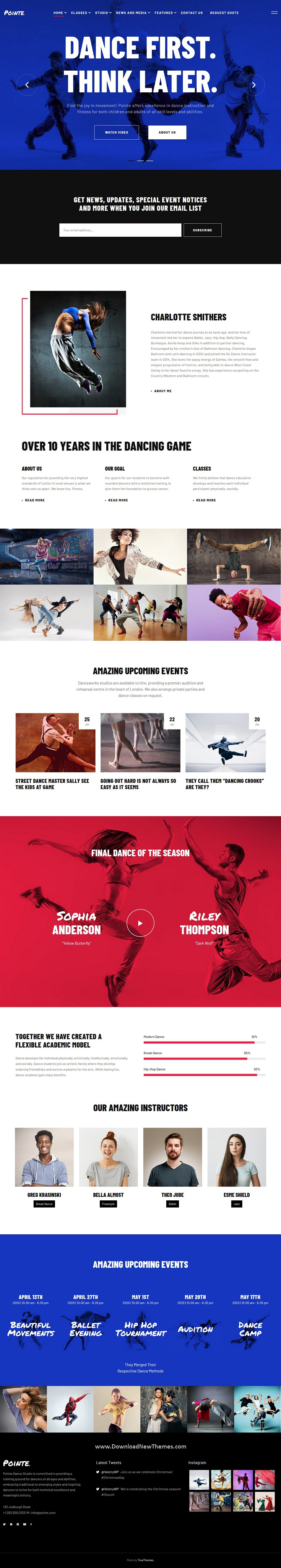 Best Dance Studio WordPress Theme