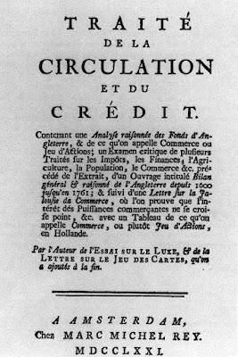 Traité de la circulation et du crédit, de Isaac de Pinto