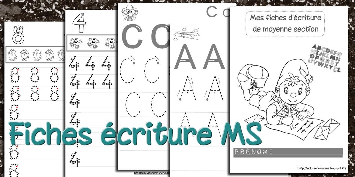 Souvent La maternelle de Laurène: Fiches d'écriture Majuscules MS KX44