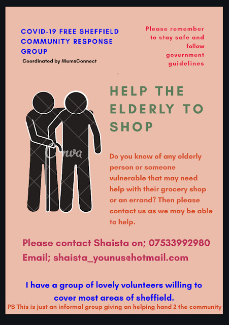 Help the Elderly to Shop Poster