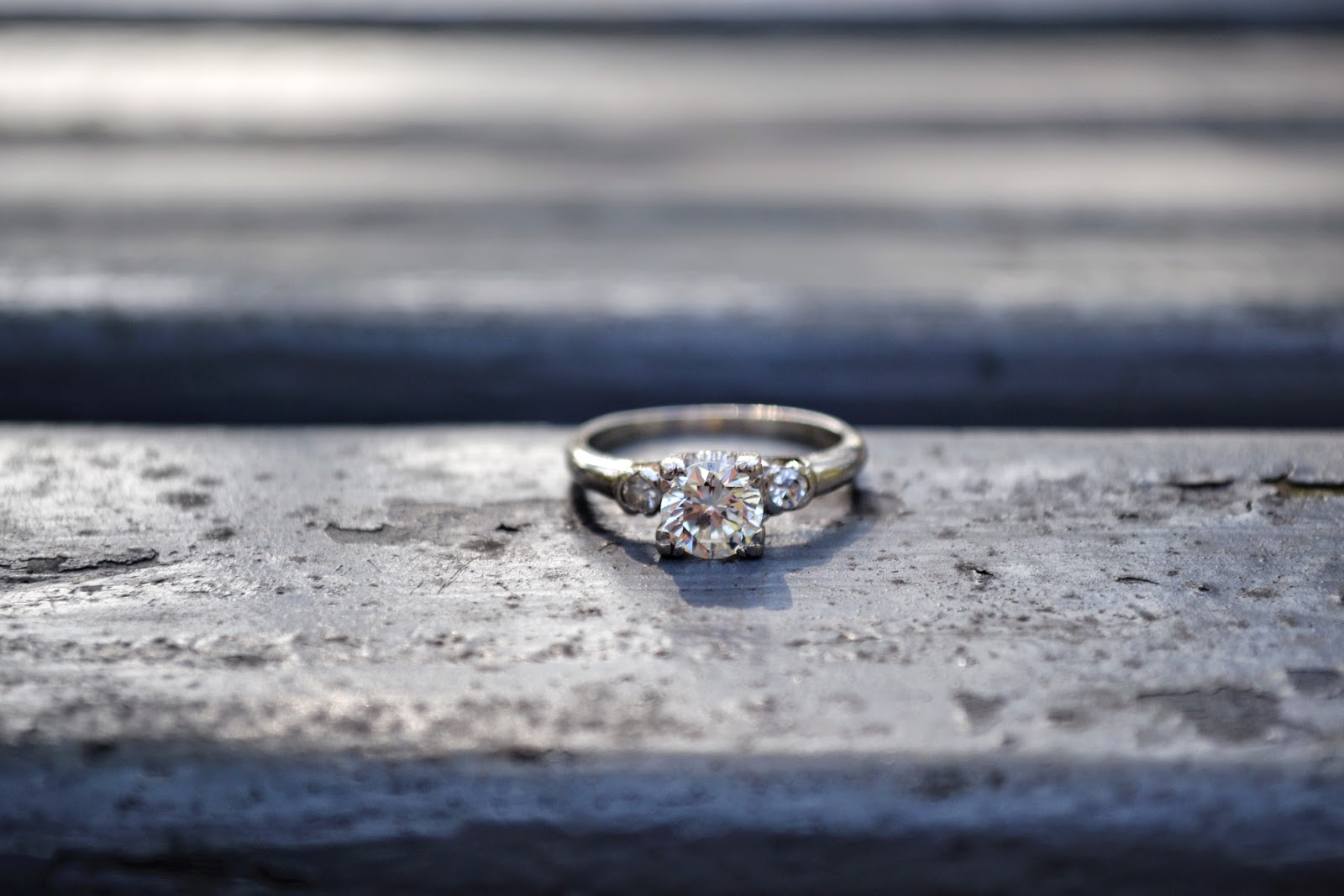Huntington Library and Botanical Gardens engagement ring
