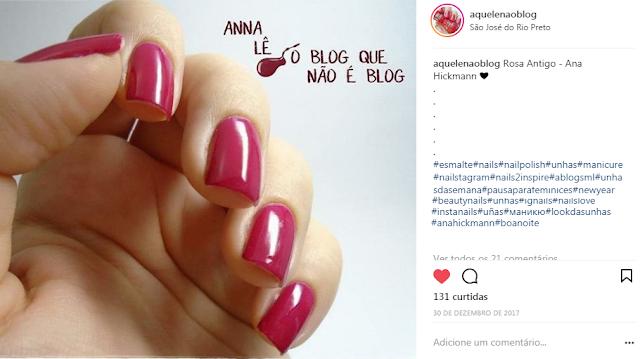 esmalte nailpolish unhas nails rosa antigo ana hickmann