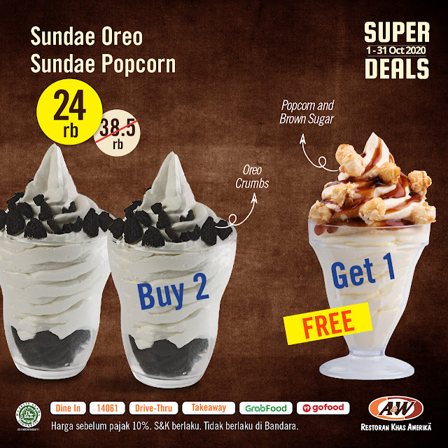 #A&W - #Promo Special Oktober Super Deals (s.d 31 Okt 2020)