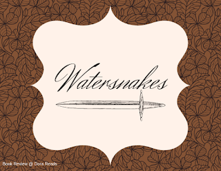 Watersnakes title image with sword shape underlining title