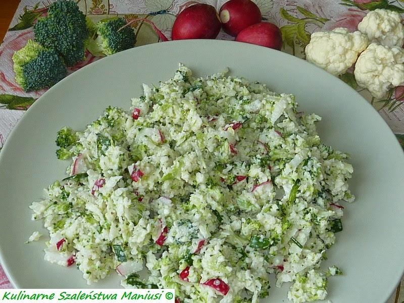 Sałatka z brokuła i kalafiora :-)