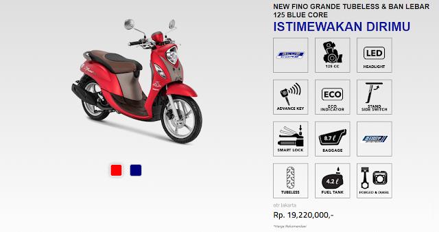 Spesifikasi Yamaha Fino