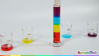 Colorful Sugar Density Column