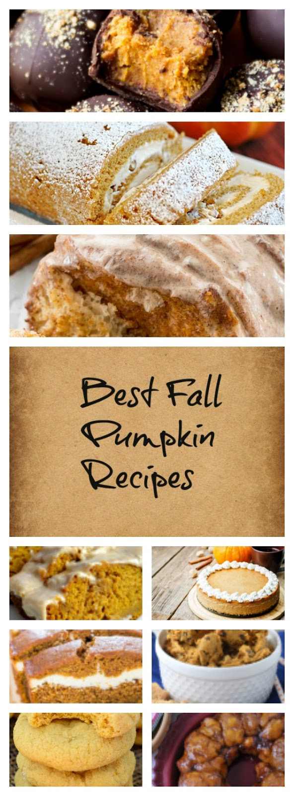 Enjoy these pumpkin recipes collected from Pinterest! Fall is only days away, and with fall comes those sweet, nutmegy, pumpkin flavored treats we all love. Good luck only making one of these delicious recipes!
