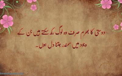 friendship quotes in urdu