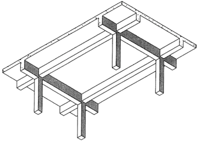 FIGURE 4 Two-way beam supported slab system.