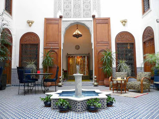 Traditionel Riad i Marokko
