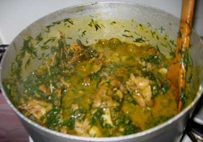Cooking banga afang soup with step by step pictures 014