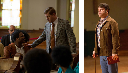 "Nic Bishop and Sean Astin in ""Woodlawn"""