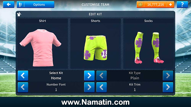 Baju Dream League Soccer Patrick Spongebob