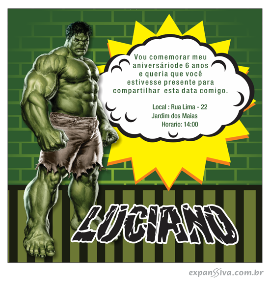 Super convite do hulk