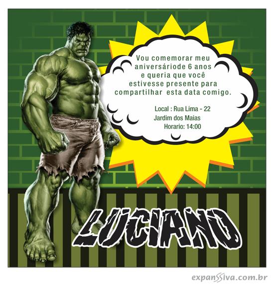 Super convite do hulk