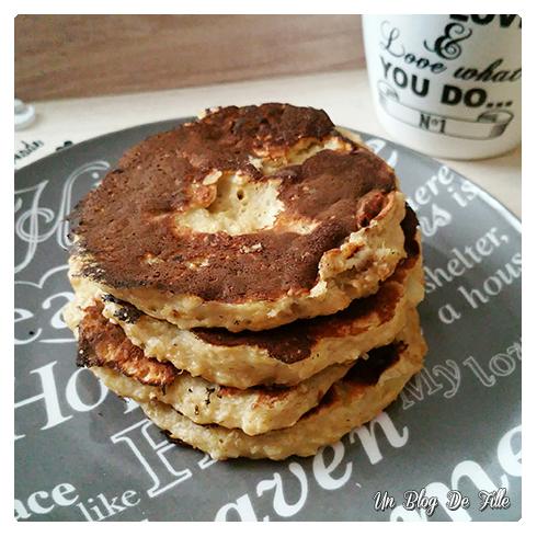 Un blog de fille: Recette   Pancake healthy : flocons d'avoine, banane et fromage blanc